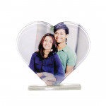 Heart Shaped Photo Crystal & Card