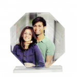 Octagonal Shaped Photo Crystal & Card