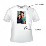 Personalized Round Neck T-Shirt & Card