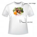 Custom Round Neck T-Shirt & Card