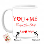 You & Me Perfect Love Story Personalized Mug & Card