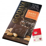 Godiva Chocolatier - Dark Chocolates Almond 100 gms