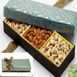 3 Partition Dryfruit Box
