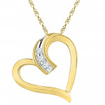 18kt Happy Heart Diamond Pendant