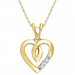 18kt Heart Beat Diamond Pendant
