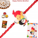 Playful Ganesha with Dhol Rakhi