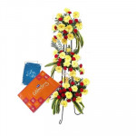 Happiness for You - 30 Yellow Gerberas + 40 Red Carnations + Cadbury Celebration 162 gms + Card