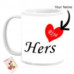 Hers Personalized Mug & Card