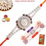 Auspicious Swastik & Diamonds Mauli Rakhi