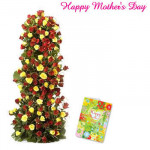 Red & Yellow Arrangement - 100 Yellow & Red Roses arrangement of 3 to 4 feet and Card