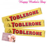 Toblerone Chocolates - 3 Toblerone Chocolates 50 gms each and Card