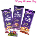 Dairy Milk Silk - 3 Dairy Milk Silk 69 gms each and Card