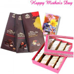 Yummy Hamper - Kaju Katli 500 gms, Cadbury Bournville 3 pcs and Card
