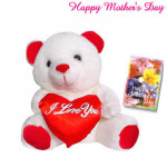 "Teddy with Heart - Teddy with Heart 8"" and Card"