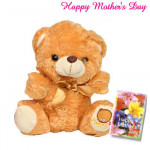 "Soft Brown Teddy - Soft Brown Teddy 6"" and Card"