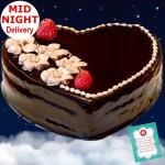 Chocolate Truffle Heart Shape Cake 1 Kg + Card