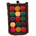 Multicolor Brown Mobile Pouch (5 inch by 3 inch)