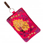 Peacock Pink Mobile Pouch (6 inch by 4 inch)