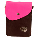 Pink & Brown Mobile Pouch (7 inch by 5 inch)