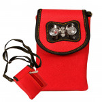 Red Mobile Pouch (6.5 inch by 3 inch)