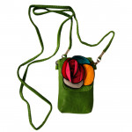 Green Mobile Pouch (5 inch by 3 inch)