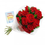 Special 16 - 16 Red Roses in Bunch and Card