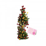 Special 60 - 60 Mix Roses in Life Size Arrangement 2 ft and Card