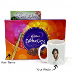 Lucky Charm - Personalized Mug, Cadbury Celebration, Personalized Wooden Pen and Card