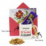Bound to Succeed - Personalized Mug, Personalized Wooden Pen, Almond, Dairy Milk Crackle and Card