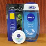 Nivea Beauty Care Hamper - Nivea Body Milk Lotion, Nivea Soft Light Moisturiser, Nivea Care Shower and Card