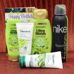Alluring Beauty Hamper - Garnier Ultra Blends Shampoo, Garnier Ultra Blends Conditioner, Nike Deo, Himalaya Neem Pack and Card