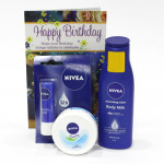 Nivea Superb Combo - Nivea Body Milk Lotion, Nivea Lip Balm, Nivea Soft Light Moisturiser and Card