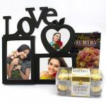 Timeless Memories - Love Photo Frame, Ferrero Rocher 16 pcs and Card