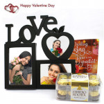 Timeless Memories - Love Photo Frame, Ferrero Rocher 16 pcs and Card