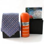 Musk N More - Tie, Jovan Musk Deo, Leather Black Wallet and Card