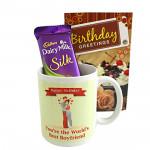 Love on Birthday - Happy Birthday Mug, Dairy Milk Silk and Card