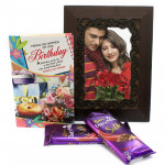 Frame of Joy - Photo Frame, 2 Dairy Milk Silk and Card