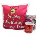 True Feelings - Happy Birthday Mug, Happy Birthday Cushion and Card