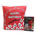 Love Token - Happy Birthday Cushion and Card