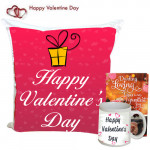 Classic Love - Happy Valentines Day Cushion, Happy Valentines Day Mug and Card