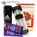 Deo Hanky Duo - Adidas Deo, Set of 3 Bonjour Hankerchiefs, 2 Dairy Milk and Card