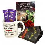 Crunch Munch - Happy Birthday Mug, 3 Bournville, 2 Dairy Milk and Card