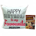 Favourite One - Happy Birthday Cushion and Card