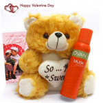 Friendly Alliance - Jovan Musk Deo, Teddy 12 inches and Card