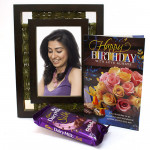 Bubble Buddy - Dairy Milk Silk Bubbly, Photo Frame and Card