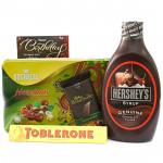 Friendliness - Vochelle Hazelnuts Chocolate, Bournville, Hersheys Chocolate Syrup, Toblerone and Card