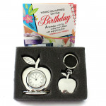 Awesome Gift Set - Clock & Keychain Gift Set and Card