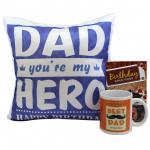 Personal Touch - Happy Birthday Cushion, Happy Birthday Mug and Card