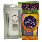 Gifts N Celebration - Pen & Keychin Gift Set, Mini Celebrations and Card