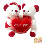 Couple Love - Couple Teddy with Heart and Card